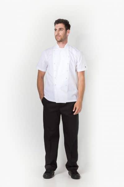Aris Uniforms-UCJ02-Xenias Short Sleeve Chef Jacket