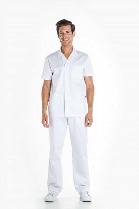 Aris Uniforms-MTU07-Men's Basic Short Sleeve Zip Tunic