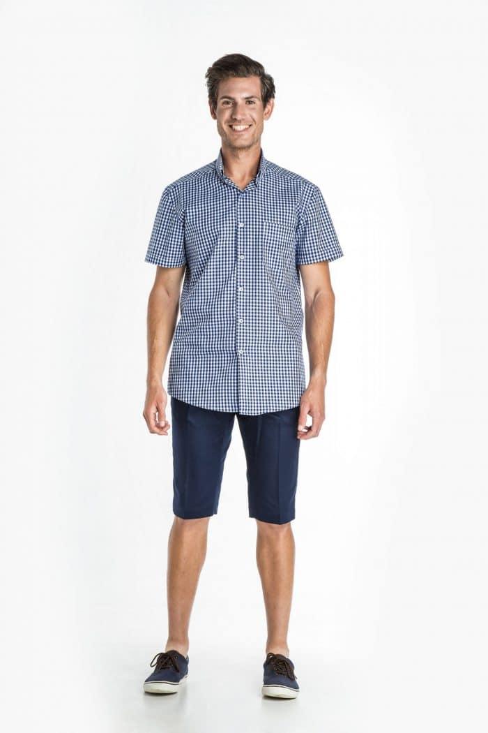 Aris Uniforms-MS15-Short Sleeve Check Shirt