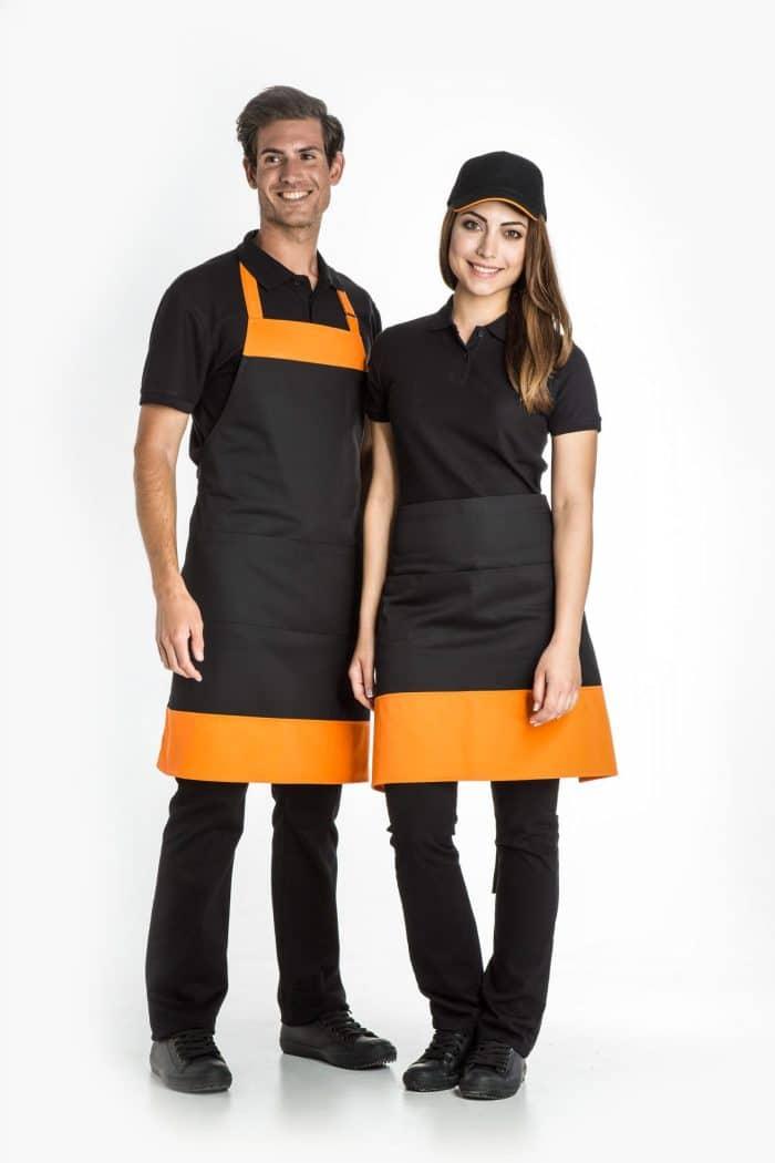 Aris Uniforms-UA37-Colour Block Bib Apron