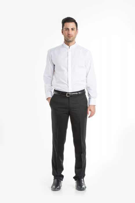 Aris Uniforms-MS03-Long Sleeve Manadarin Collar Shirt