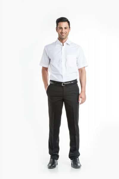 Aris Uniforms-MS01-Short Sleeve Classic Collar Shirt