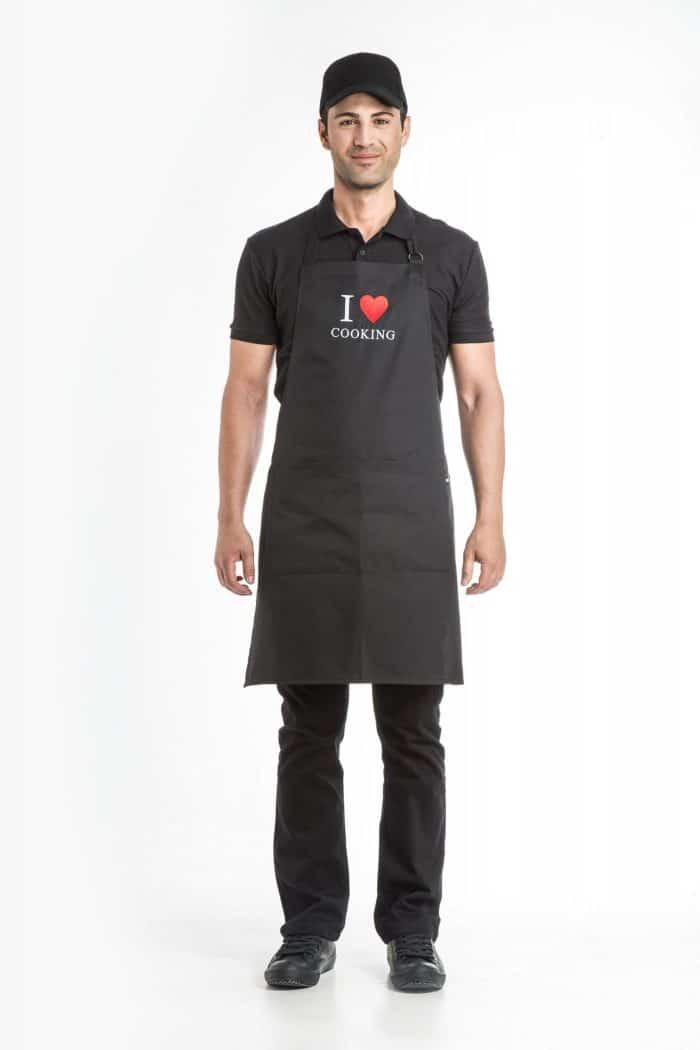 Aris Uniforms-UAH03-I Heart Cooking Apron