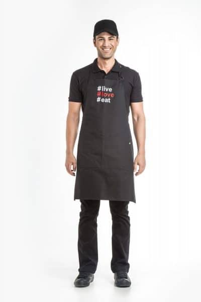 Aris Uniforms-UAP06-#live/ #love/ #eat Apron