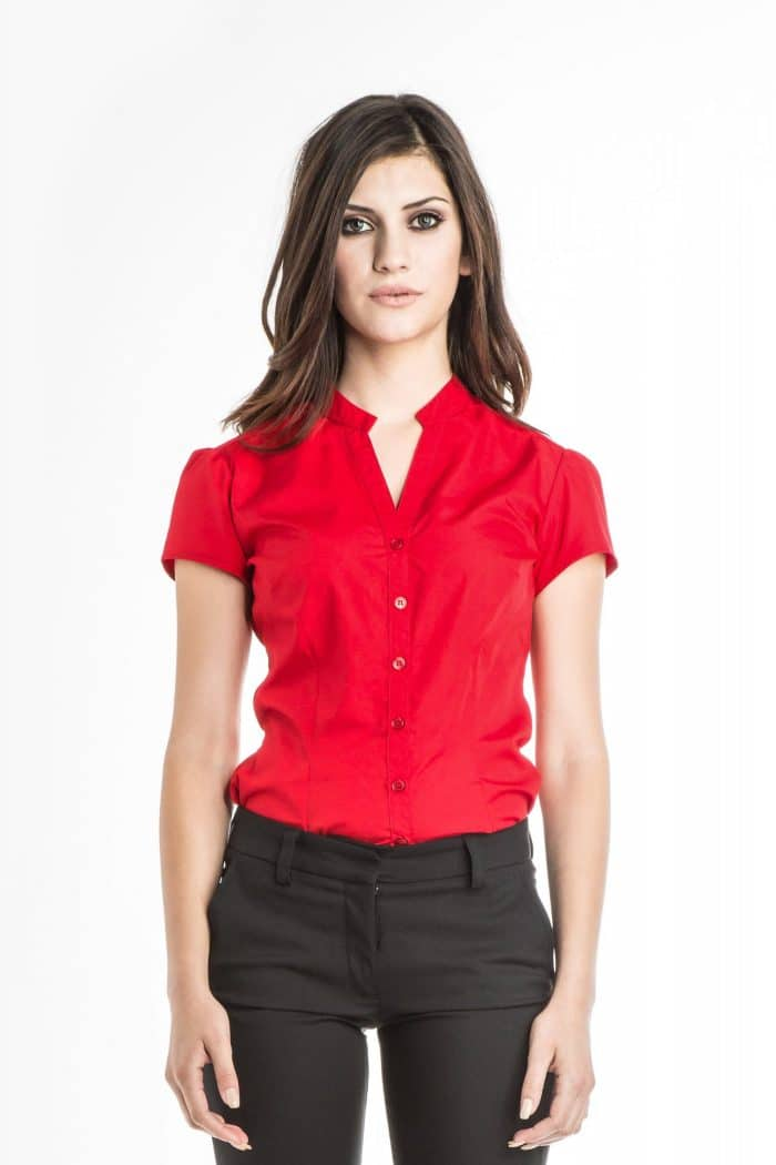 Aris Uniforms-FB04-Chloe Short Sleeve Blouse