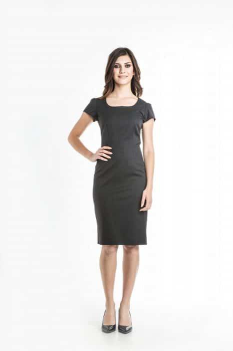 Aris Uniforms-FD08-Puff Sleeve Shift Dress