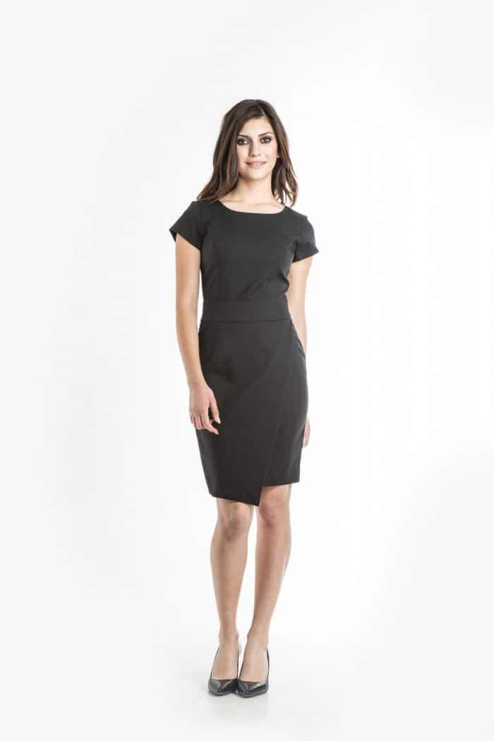Aris Uniforms-FD10-Samantha Asymmetrical Dress