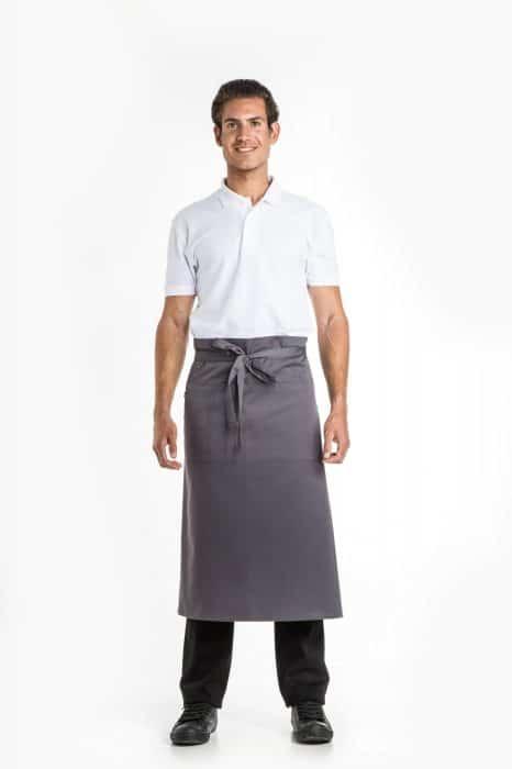 Aris Uniforms-UA04-Long Apron With Pocket