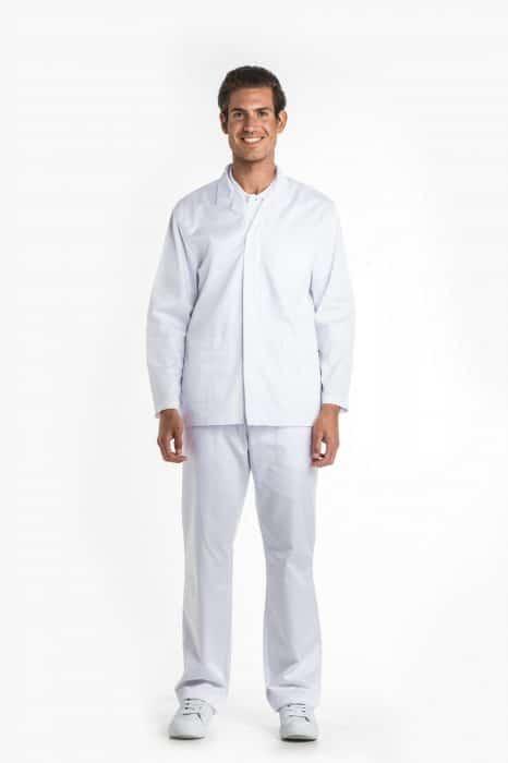Aris Uniforms-MTU08-Men's Basic Long Sleeve Zip Tunic