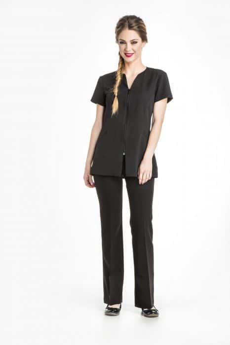 Aris Uniforms-FTU14-Selene Women's Collar-Less Zip Tunic