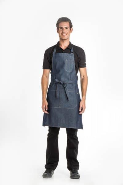 Aris Uniforms-UA43-Denim Bib Apron