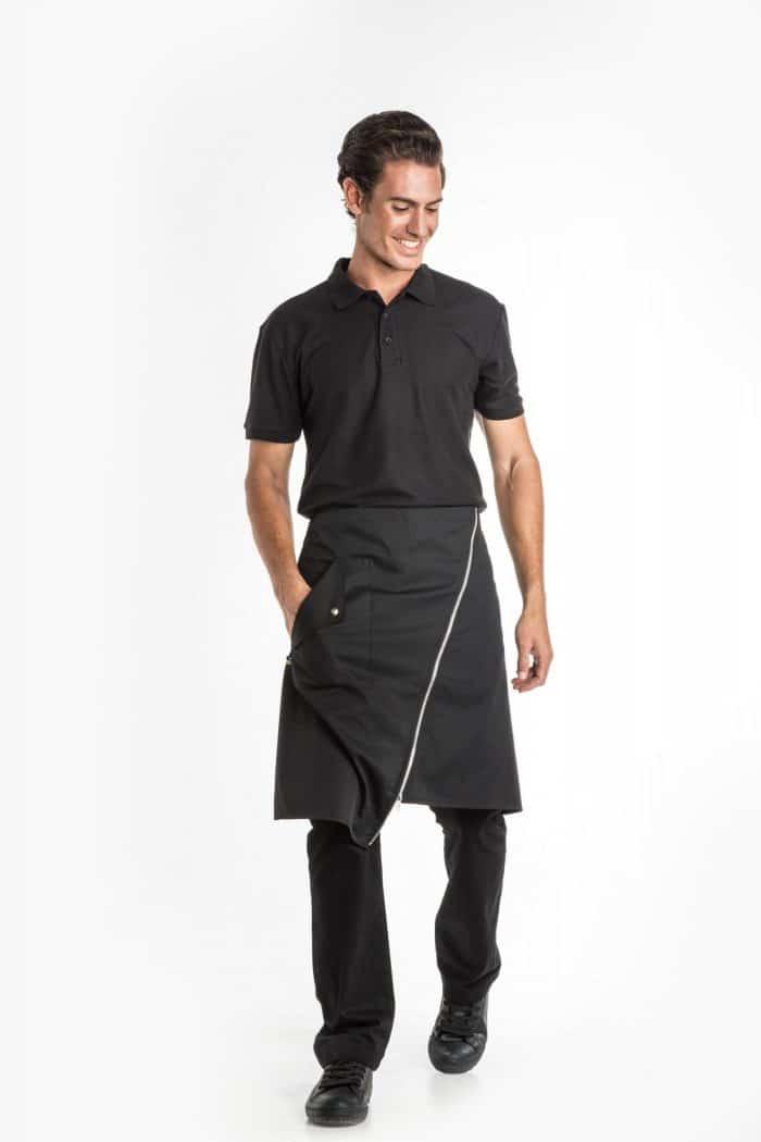 Aris Uniforms-UA45-Zip Asymmetrical Waist Apron