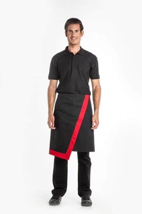 Aris Uniforms-UA48-Contrast Asymmetrical Waist Apron